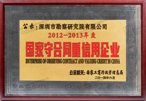 6、2012-2013年度国家守合同重信用企业