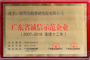 12、广东省诚信示范企业